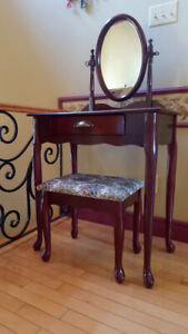 Wooden Console Dressing Table - Antique Style