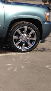 """22"""" RIMS AND RUBBER FOR CHEVY'S"""