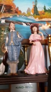 BOY AND GIRL CERAMIC FIGURES