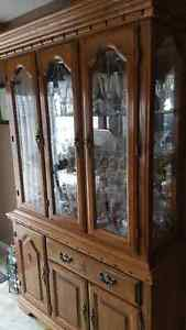 Country style kitchen 2 piece hutch