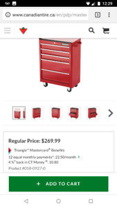 Brand new in box 5 drawer tool box (red)