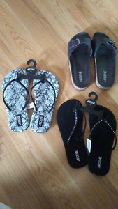 Three pairs of sandles, brand new with tags
