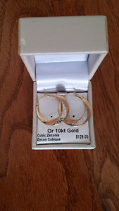 10kt Gold Brand New Hoops