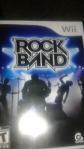 Wii jeux RockBand game+ Beatles game + Drums