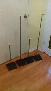 4 height adjustable sturdy speaker stands