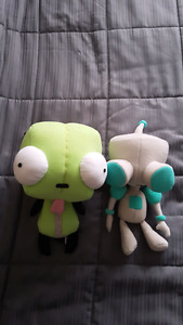 Official Invader Zim GIR (robot and dog) plushes