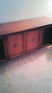 Vintage Solid wood stereo cabinet