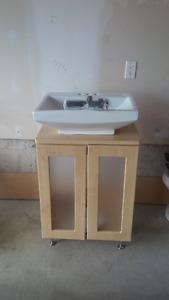 New Vessel Sink & Cabinet