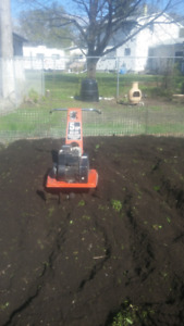Rototiller work, with great rates