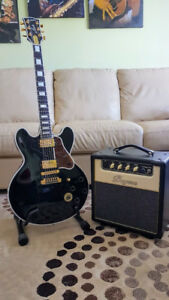 GUITARE  GIBSON  BB KING  ES-355  LUCILLE  ET SON AMP. BUGERA