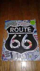 Route 66 Color Flat Metal Sign