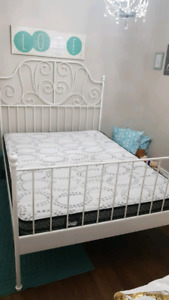 Full Ikea bed frame & Sealy Mattress