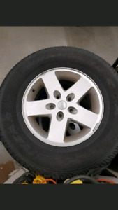 4 Jeep Wrangler Rims and Tires