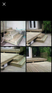 Custom picnic tables/ exterior projects.