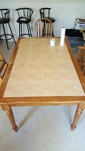 Dining table and 2 chairs $125 OBO