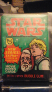 Non sport cards unopened wax packs. Vintage Star wars lot.