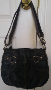 Women's Danier black/brown soft leather hand bag for sale