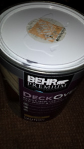 ONE  GALLON  OF  BEHR  PREMIUM  WOOD  AND  CONCRETE STAIN