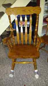 Solid wood rocking chair!