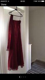 Bridesmaid prom evening long dress size 10