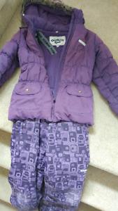 Girls sz 10 Winter Snowsuit purple