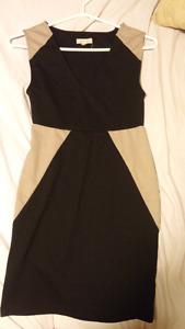 Silence&Noise Short Black and Tan Dress Size Small