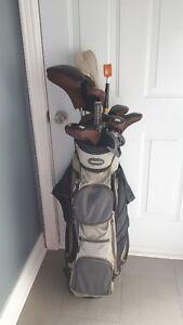 set de golf de femme droiti'ere avec sac