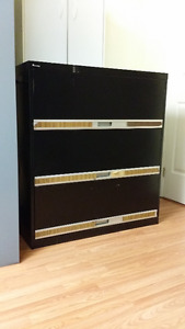 Black 3 draw Filing Cabinet