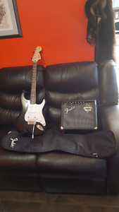 Fender Squire guitar and amp set