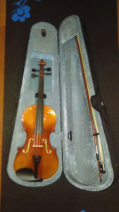 New Violin 4/4 includes case and shoulder stand.