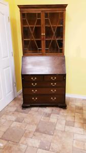 Solid oak cabinet/drop desk