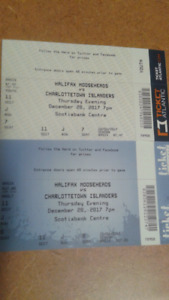 Moosehead tickets (lower bowl) $20 for pair