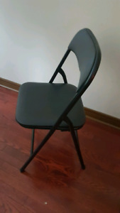 Folding black chair 3 available