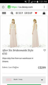 BNWT BRIDESMAID DRESS AFTER SIX