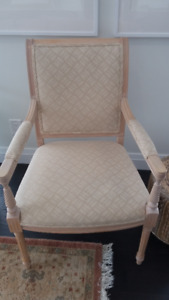 Traditional Cream Coloured Chair