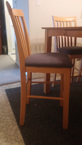 Bar style kitchen table and chairs