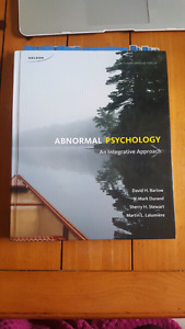 Abnormal Psychology 4th Canadian edition