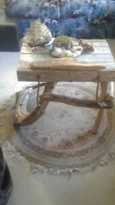 Vintage Lobster Crate Driftwood Table! Bay of Fundy!