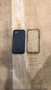 Otter box symmetry iPhone 7 case blue and clear