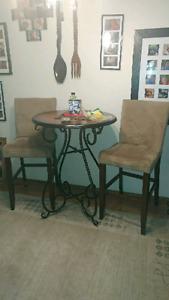 Bistro dining set 3 piece with 2 bonus pieces!