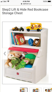 Step 2 toy chest with book shelf