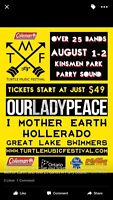 2 tickets to the Coleman Turtle Festival our lady Peace