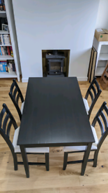 IKEA 'lerhman' dining table and chair set