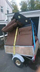 Free scrap metal Brown corner sofa