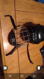 Casque de hockey,plastron, combine