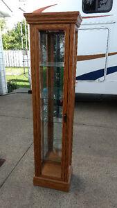 Curio Cabinet Solid Oak