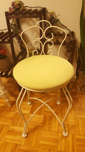 UPHOLSTERED CHAIR 60$, STOOL 45$ OR BOTH 80$