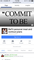Personalized meal and workout plans