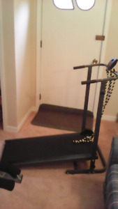 Inversion Table and Manual Treadmill