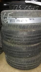 4 pneus d'été usagé 175-65-14